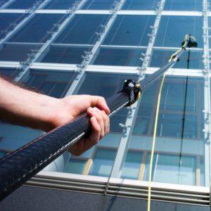Limpeza de vidros e fachada predial